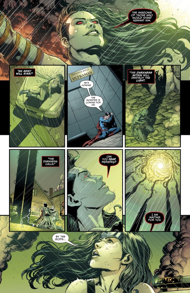 """In """"Darkseid War"""" (2015), Grail overpowers Power Ring to create shadows to summon Anti-Monitor."""