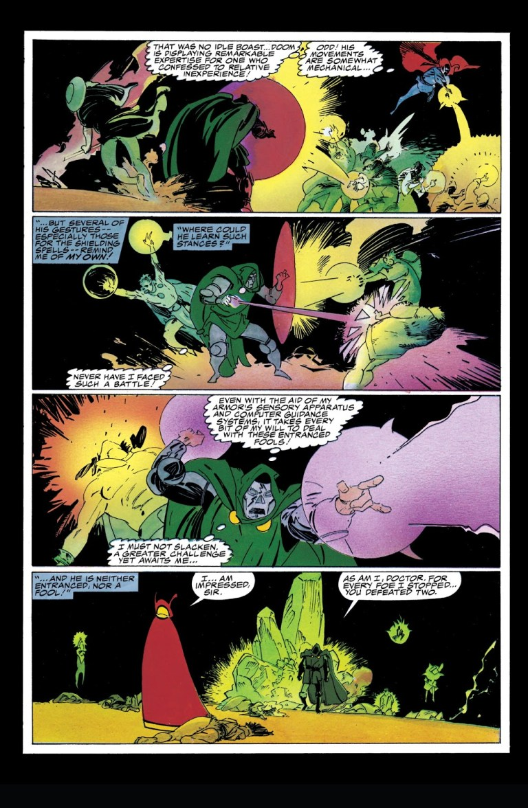 """In """"Doctor Strange And Doctor Doom: Triumph And Torment"""", Doctor Strange and Doctor Doom contend for the title of Sorcerer Supreme."""