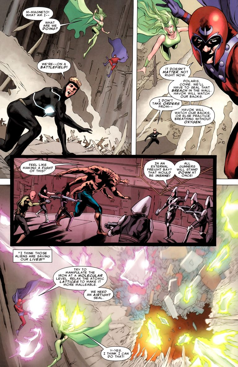 Magneto can manipulate iron at the atomic level.