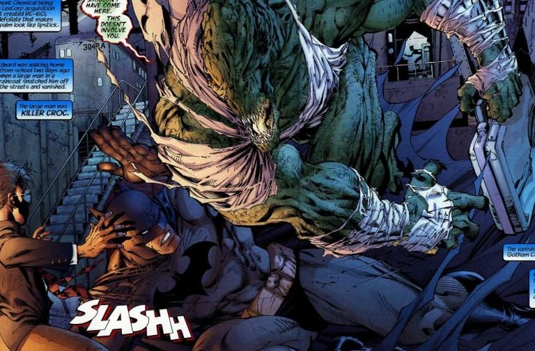 In 'Batman' (2002) #608, Batman faces the beastly villain Killer Croc.