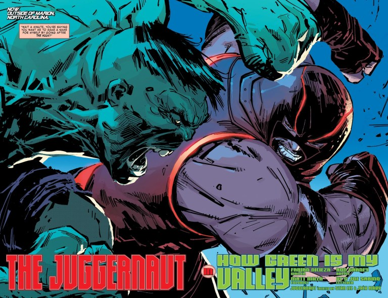 In 'Juggernaut' (2020) #2, Juggernaut and D-Cell take on Hulk.