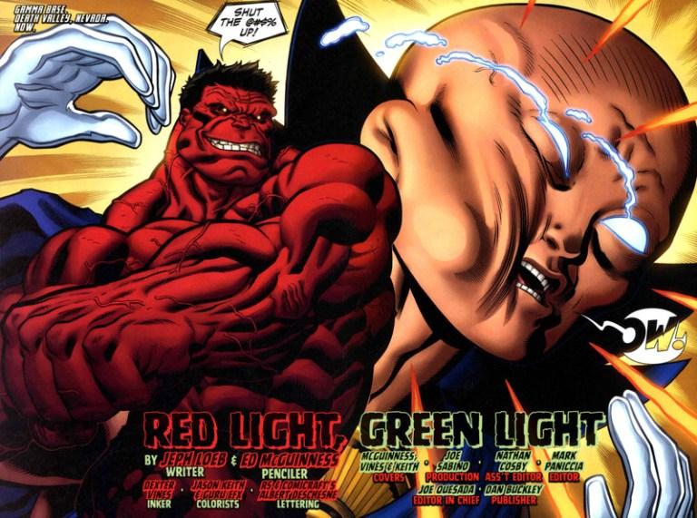 In 'Hulk' (2008) #4, Red Hulk punches out Uatu the Watcher.