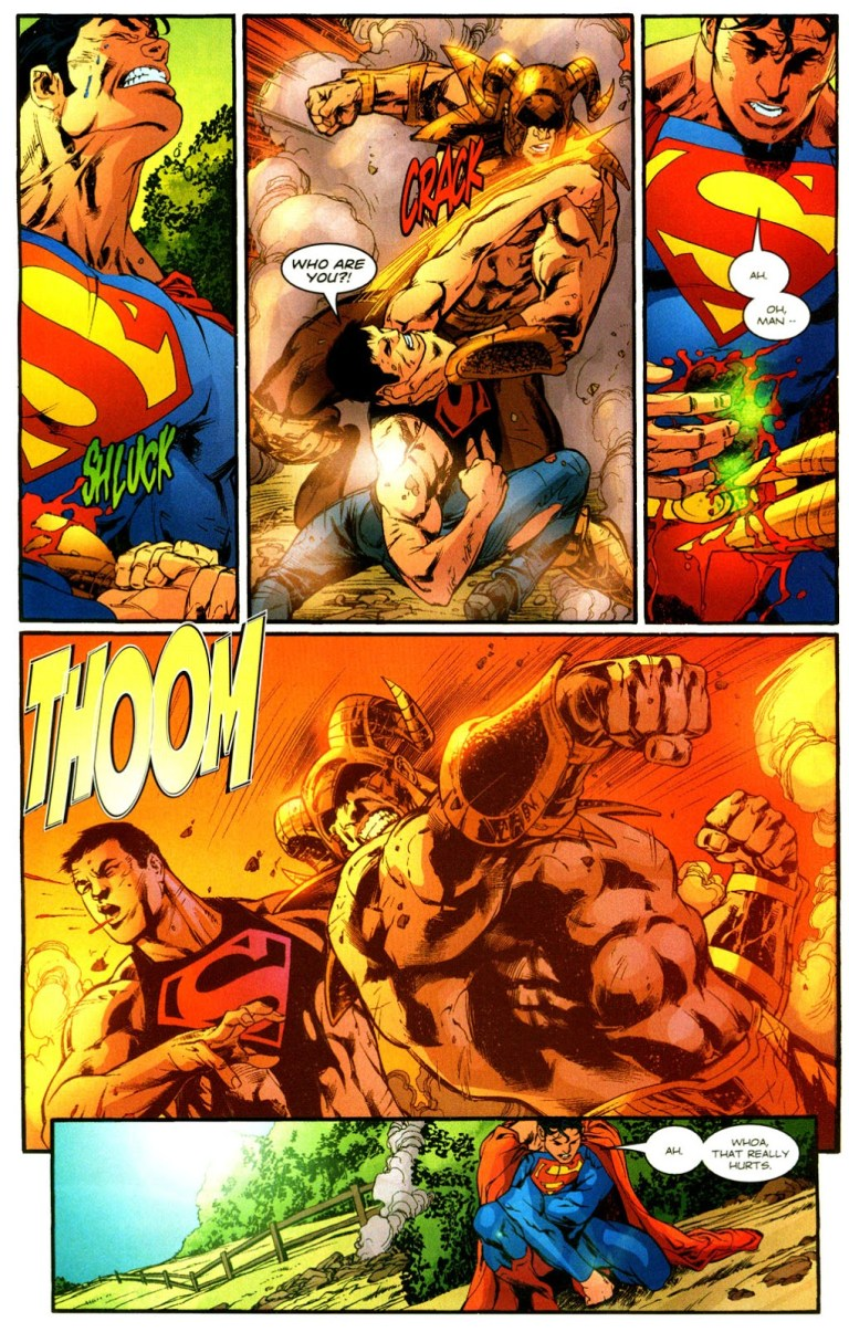 In 'Action Comics' (2004) #816, Superman is impaled by Gog's liquid Kryptonite-laced staff.
