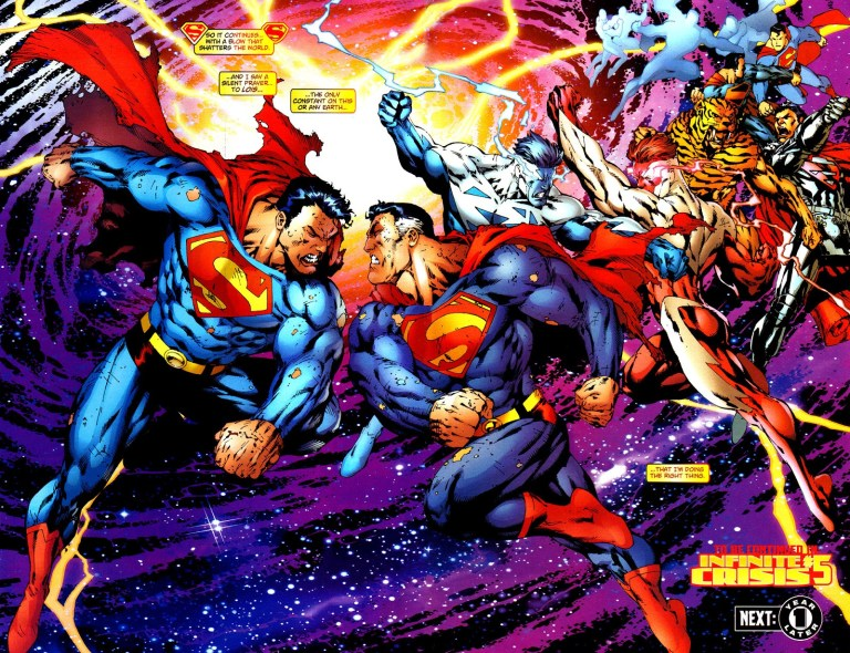 In 'Adventures of Superman' (2006) #649, Earth-One and Earth-Two Supermen clash over the death of Earth-Two Lois Lane.