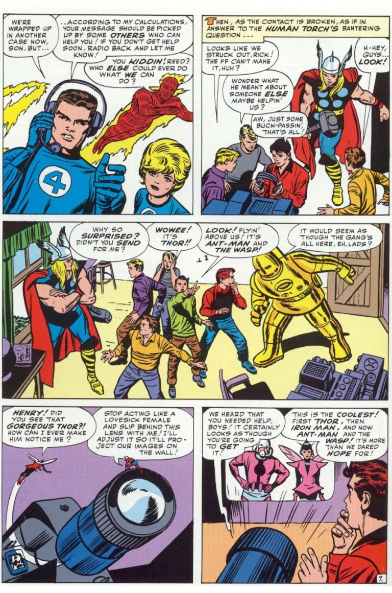 In 'Avengers' (1963) #1, the future Avengers assemble at the Teen Brigade headquarters.