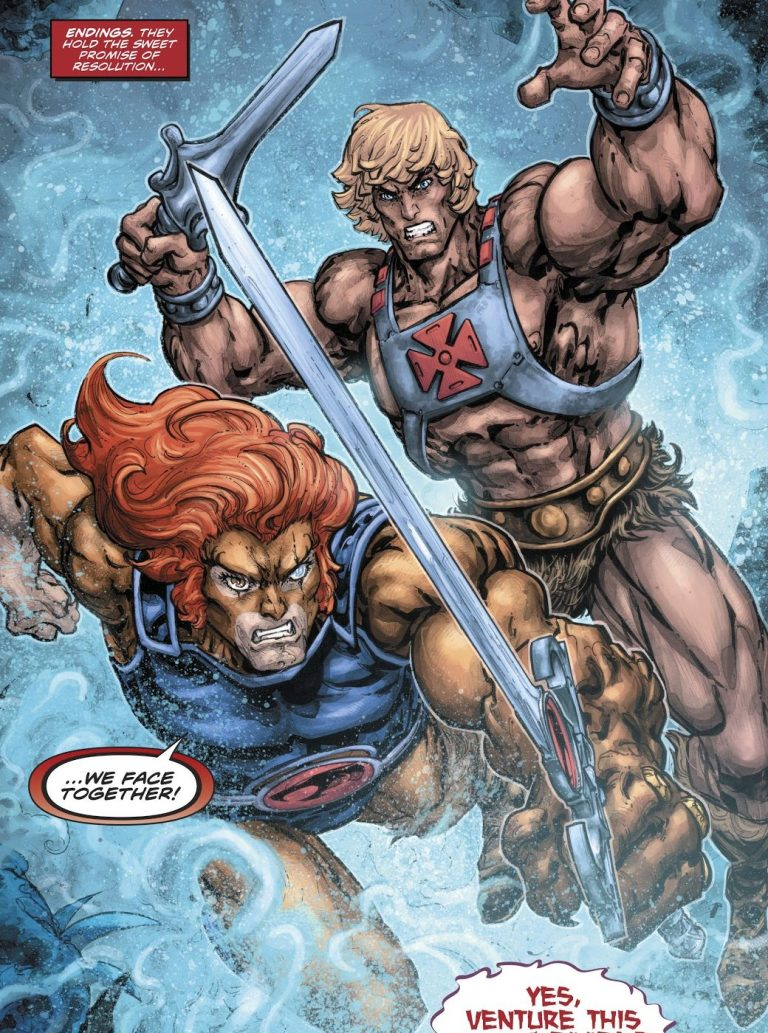In 'He-Man/Thundercats' (2017) #6, He-Man and Lion-O rumble against Mumm-Ator.