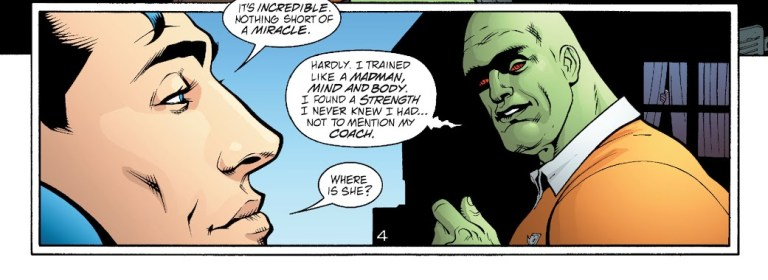 In 'JLA' (2003) #84, J'onn J'onnz reveals to Superman that he has overcome his fire weakness with Scorch's help.