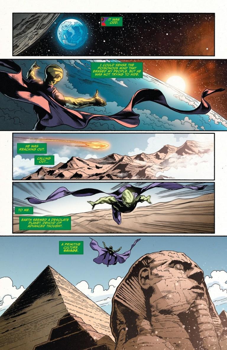 In 'JLA' (2013) #5, Martian Manhunter flies from Mars to Earth.