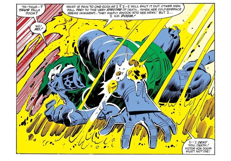 In 'Marvel Super Heroes Secret Wars' (1985) #10, Doctor Doom denies Mistress Death.