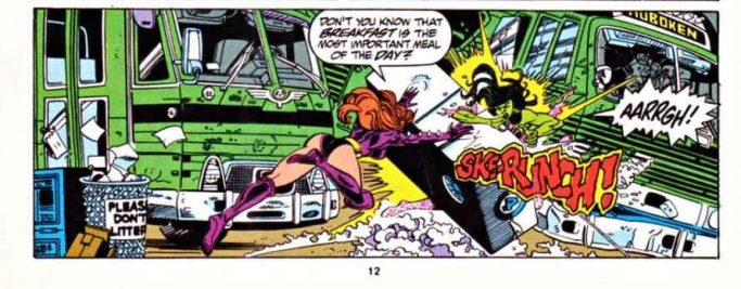 In 'Sensational She-Hulk' (1993) #52, She-Hulk and Titania get busy at Libido's Boutique.