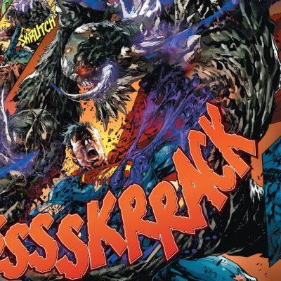 In 'Superman: Doomed' (2014) #1, Superman rips Doomsday in half in Smallville.