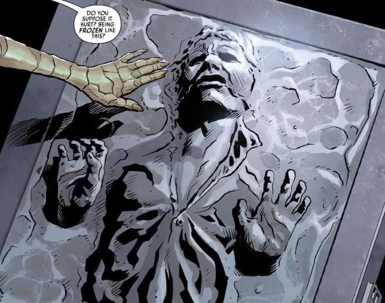 Han Solo's carbonite body.