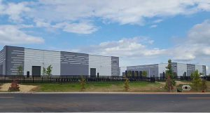 Two recently-completed Amazon data centers in Ashburn, Virginia. (Photo: Rich Miller)
