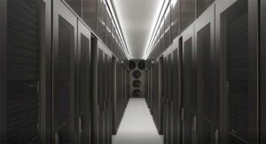An aisle inside an Equinix edge data center design, which uses pre-fabricated modules. (Image: Equinix)
