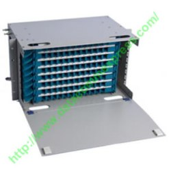 96-port rack mountable fiber optic patch panel with 96 SC Adapter