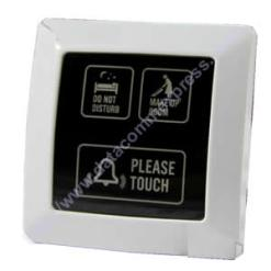Hotel touch doorbell with do not disturb, clean room