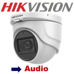 Hikvision DS-2CE76DOT-ITMFS 2MP 30m IR Turbo EXIR HD Camera with Microphone  2.8mm