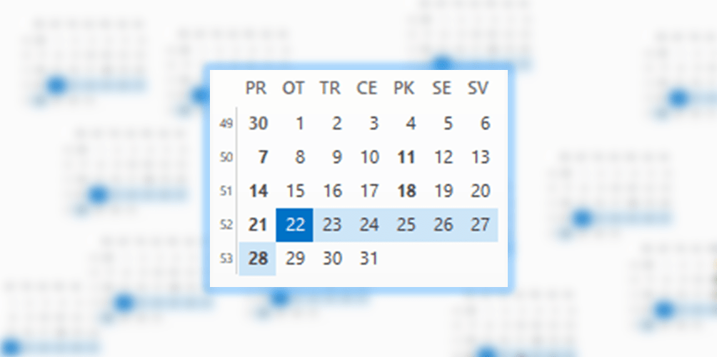 Add week numbers to Outlook calendar