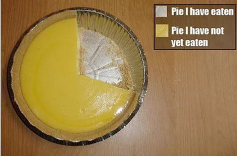 Fun piechart - Real pie