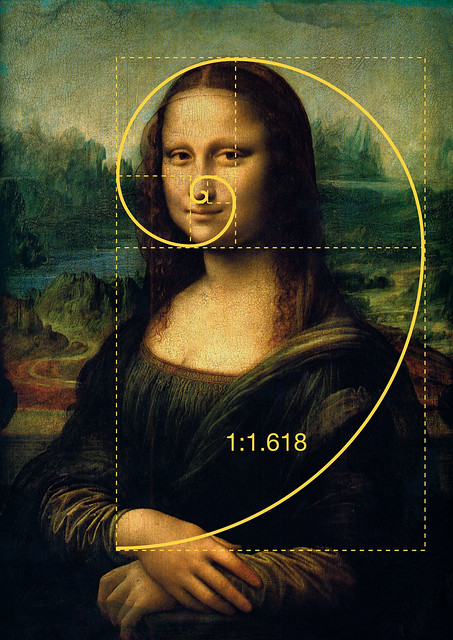 Golden ratio/Gulden snede in de Mona Lisa