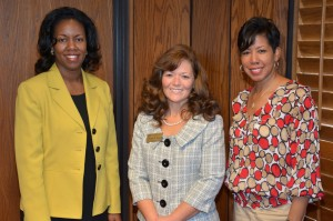 Vance-Granville Community College President Dr. Stelfanie Williams (left) and Vice President of Academic & Student Affairs Dr. Angela Ballentine (right) congratulate Cynthia Young (center) on her graduation from the North Carolina Community College Leadership Program. (VGCC photo)