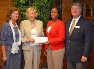 From left, VGCC Endowment Specialist Kay Currin, Linda C. Ligon, VGCC President Dr. Stelfanie Williams and Endowment Director Eddie Ferguson. (VGCC photo)