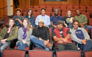 """Members of the cast and crew for """"Deathtrap"""" include, on front row, from left, Morgan McFalls of Oxford, Ashley McEntee of Oxford, Keyante Lindsey of Oxford, Jerome Bulluck of Henderson and Tia Garren of Henderson; and on back row, from left, Malachi Glass of Henderson, Jessie Hartley of Oxford, Michael Frink of Raleigh, Jordan Bunting of Rocky Mount, Brittney Patterson of Henderson and TaJuan Glenn of Oxford. Not pictured: Jamie McGinn, Allen Young and Spencer Nunn. (VGCC photo)"""