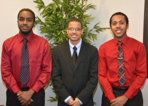 From left, VGCC Male Mentoring officers Christopher Blue of Henderson (recorder/treasurer), Bradley Gooch of Oxford (vice president) and Christopher Ford of Manson (president). (VGCC photo)