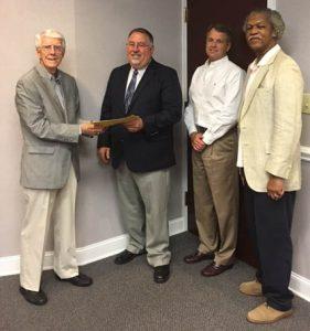 From Left to Right, Dr. Marian Clark, Dr. Ron Cava, Frank Frazier, Pastor Joseph Ratliff