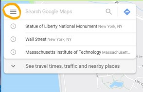 google map menu_LI