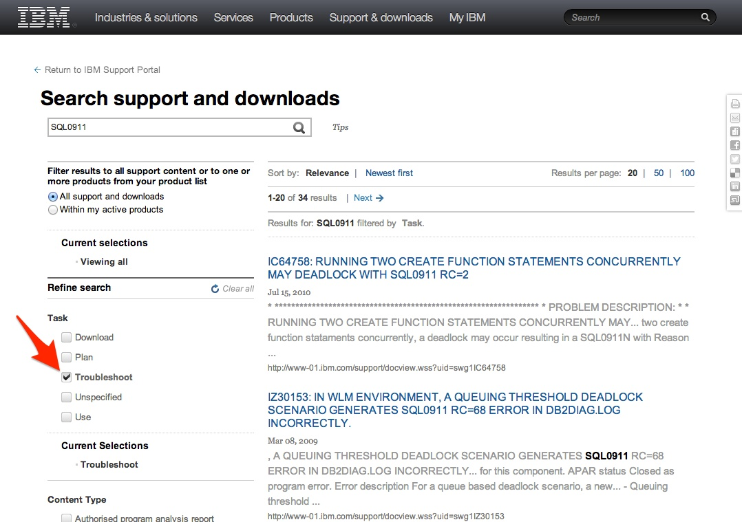 Tips for Using the IBM DB2 LUW Support Portal – DataGeek blog