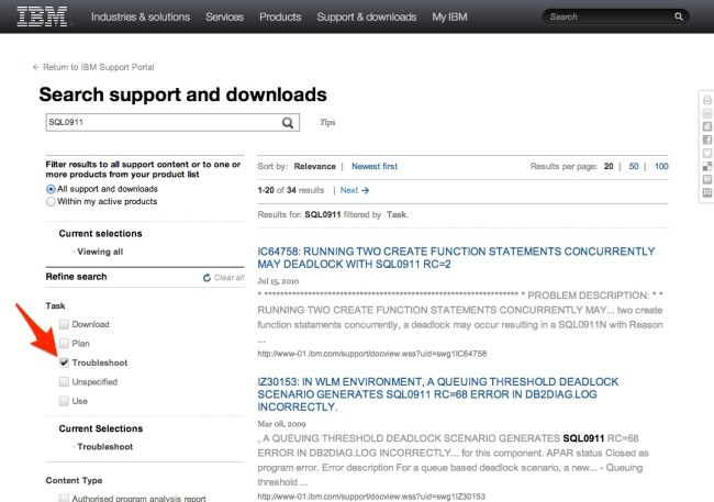 IBM_Support_Portal_search_results