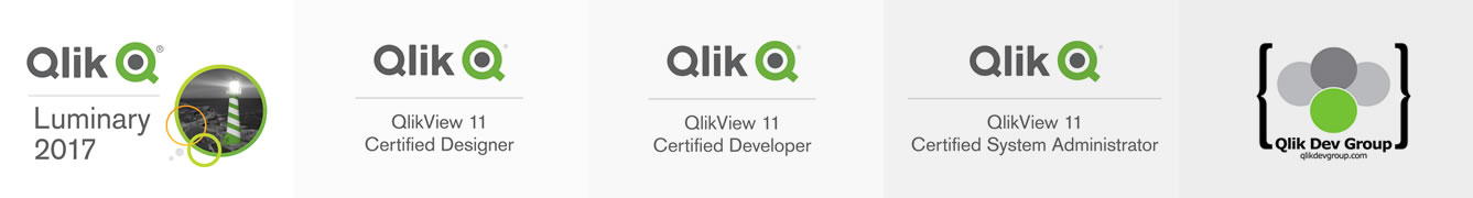 Qlik Luminary 2017, 2016, QlikView Certifications, and Qlik Dev Group