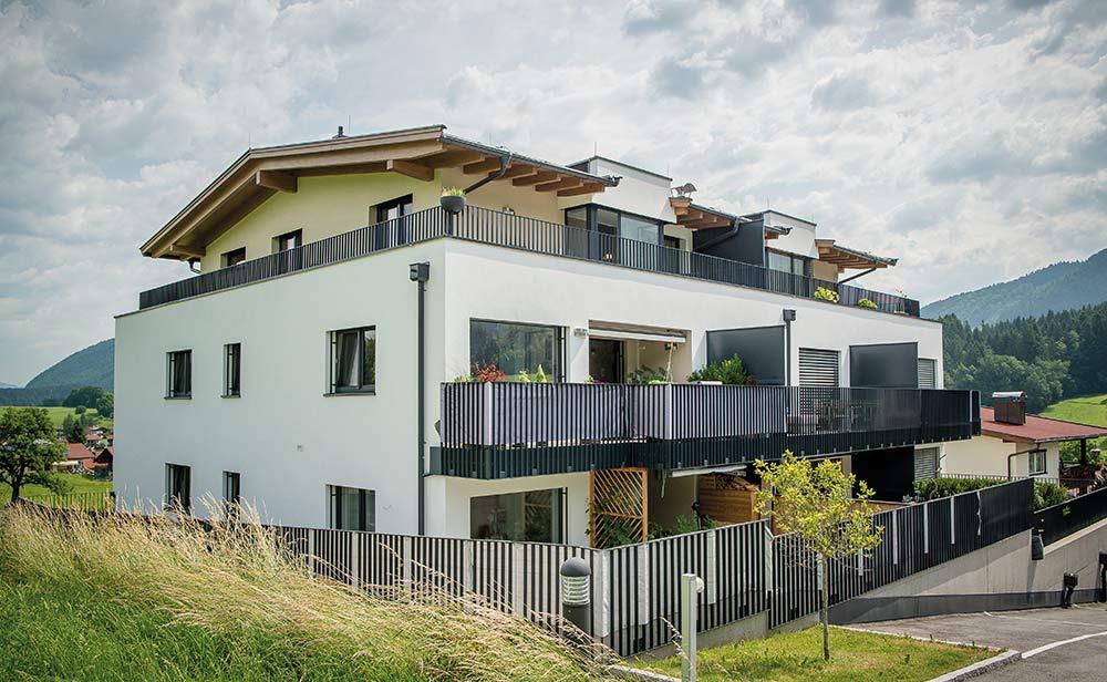Architektur Wohnanlage Sonnendorf Schwoich