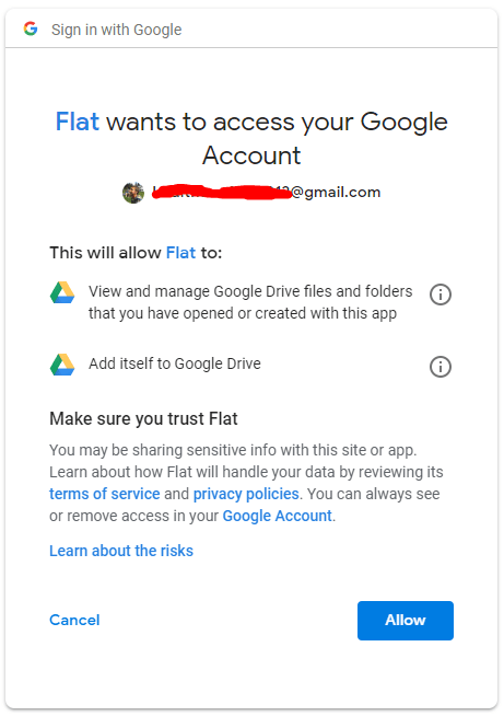 Google Drive Permission Access