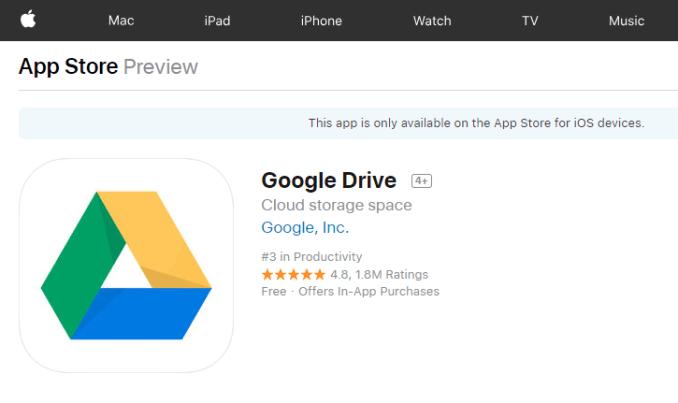 Google Drive App Store