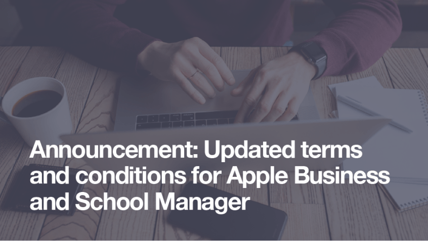 Apple Business and School Manager