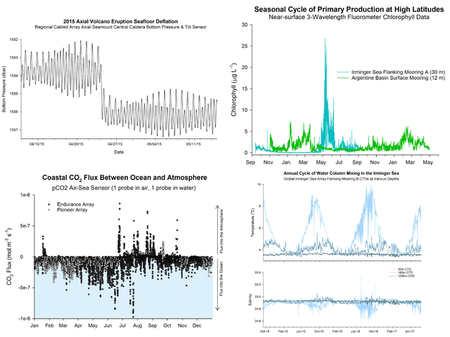 A collage of 4 data nugget graphs.