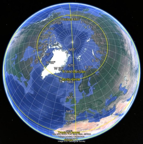 Northern Polar Projection