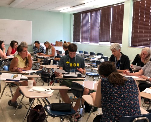 Participants at our workshop during the 2019 Earth Educators Rendezvous in Nashville.