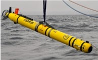AUV being deployed over water