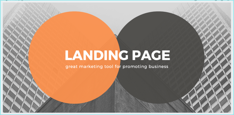 landing page for business promotion