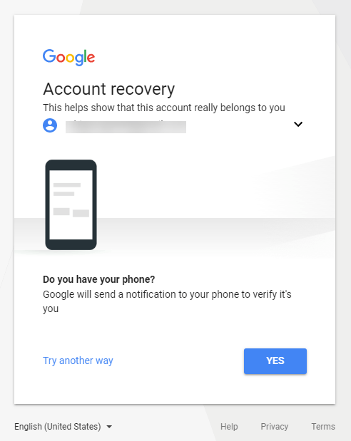 Phone Verification for Gmail Recovery