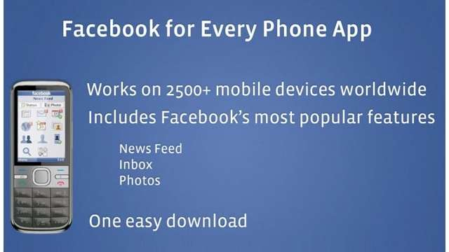 Face Book For Every Mobile