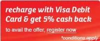 Airtel Visa Cash Back Offer