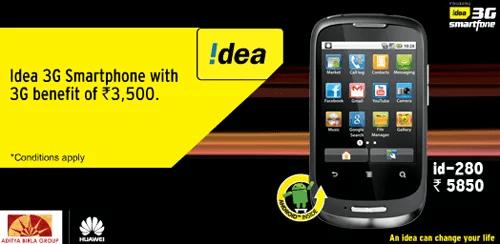 Idea 3G Smartphone id 280