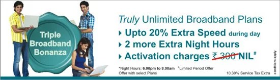 MTNL truly Unlimited Broadband plans