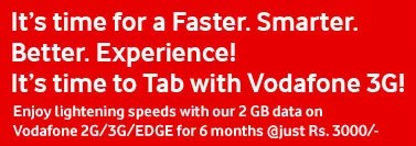 Vodafone 3G Offer With Samsung 750 Tab
