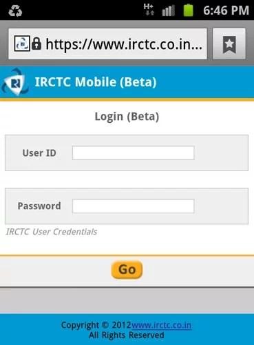 IRCTC Mobile Friendly portal