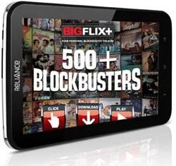 Reliance 3G Tab with BigFlix Plus